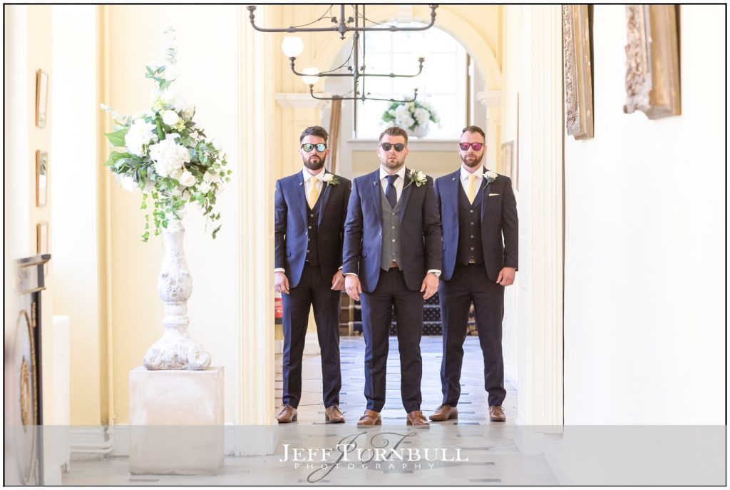 Men Looking Cool at Gosfield Hall Wedding Venue