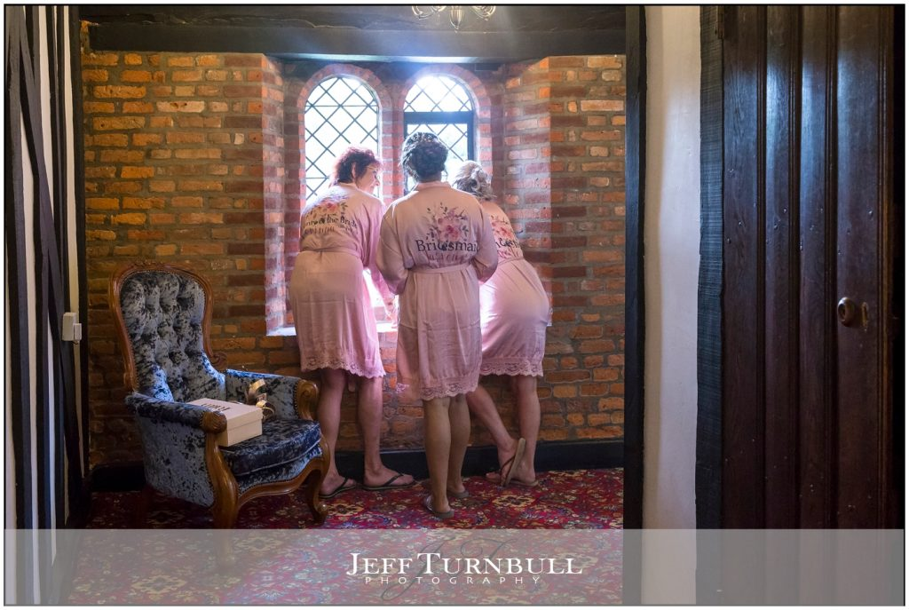 Bridemaids in Dressing Gowns