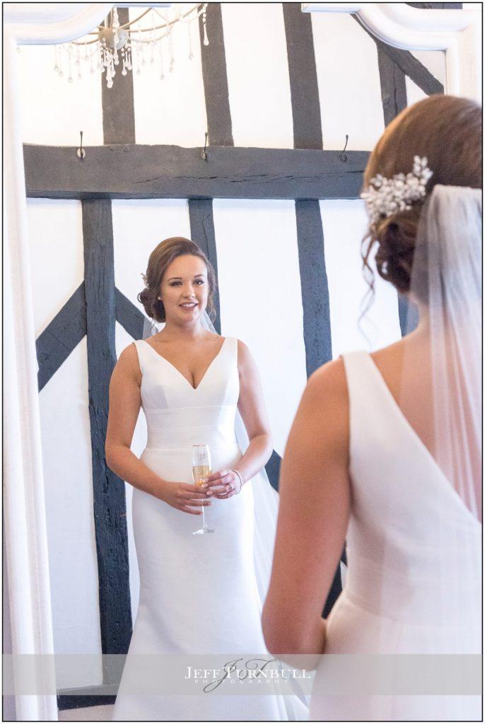 Stunning Bride in the Mirror