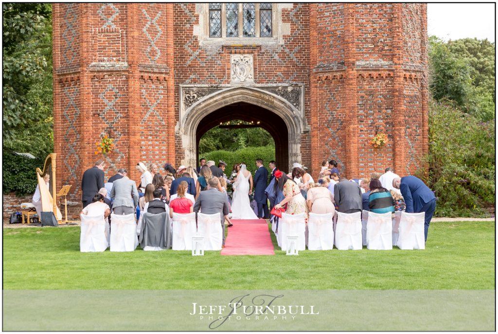Leez Priory Outdoor Wedding Ceremony