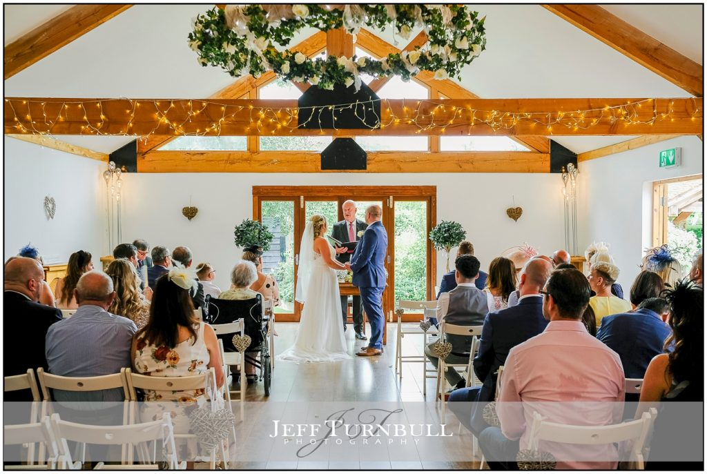 Wedding Ceremony at Maidens Barn