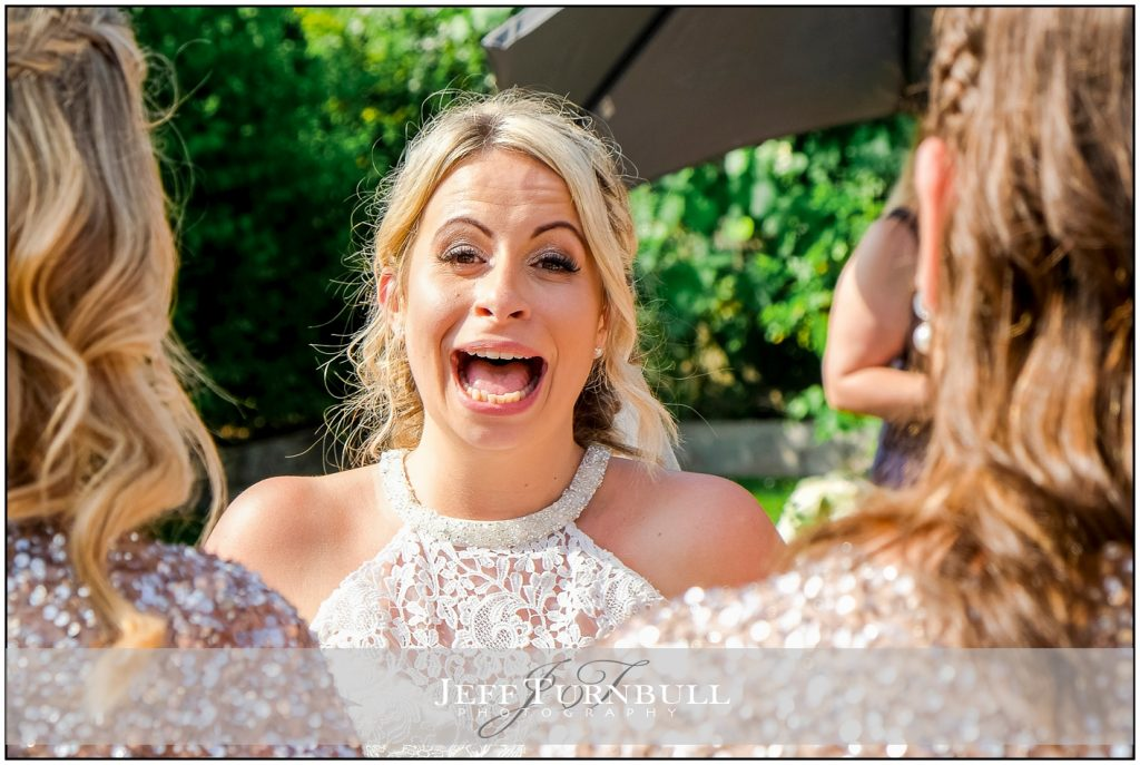 Emotional Bride Laughing