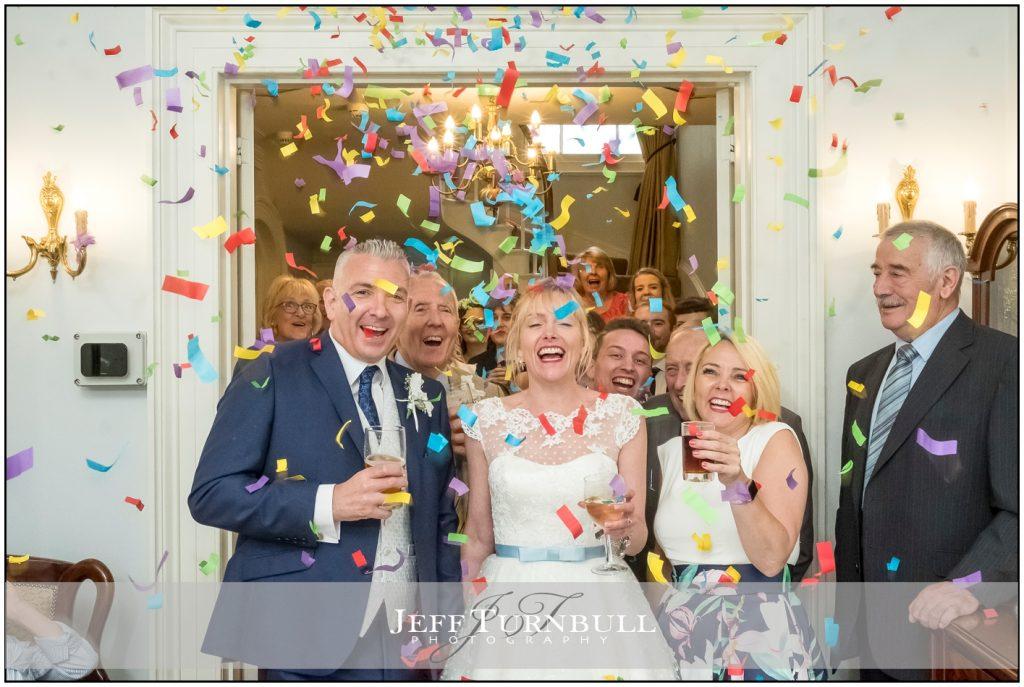 Intimate Wedding Photography Confetti Shot