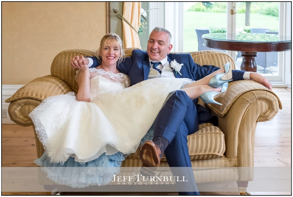 Intimate Wedding Photography of Bride and Groom Relaxing