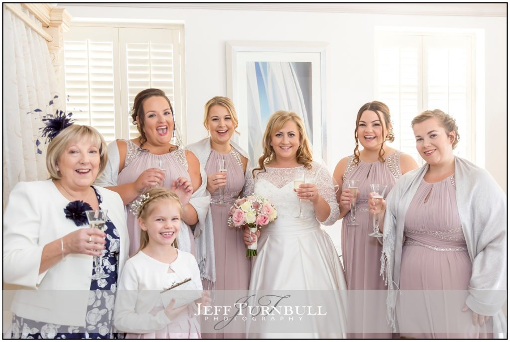 Bride with mum and bridesmaids