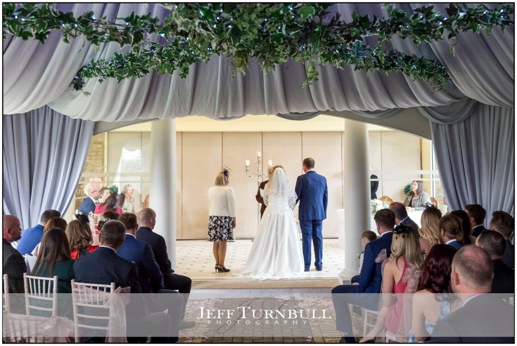 Wedding ceremony at Friern Manor