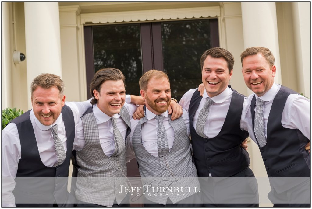 Fun photo of groomsmen