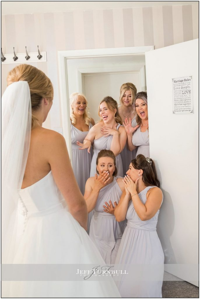 Bride's reveal to Bridesmaids