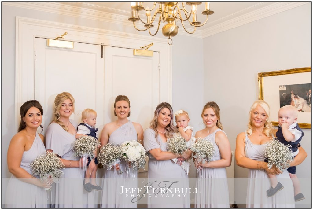 Bridesmaids, pageboys, flower girls