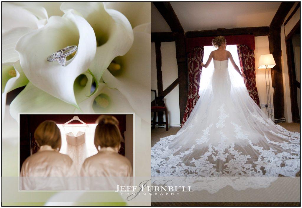 Full length of Bride in her Dress