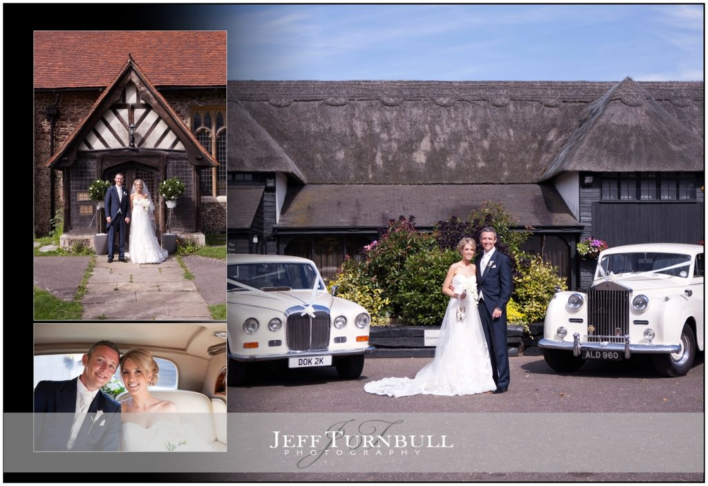 Bride and Groom at Channels Barn