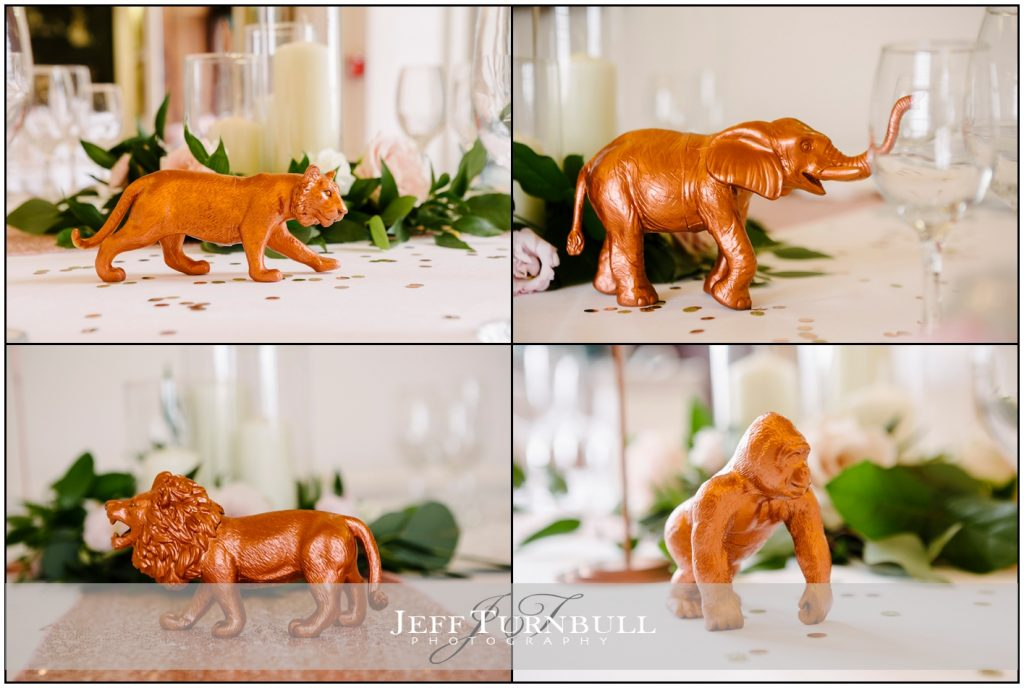 Animals used as Wedding Table Decoration