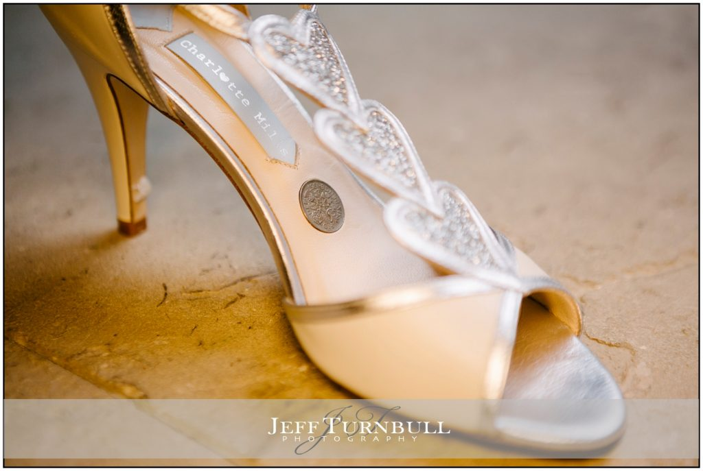 A sixpence in the brides shoe