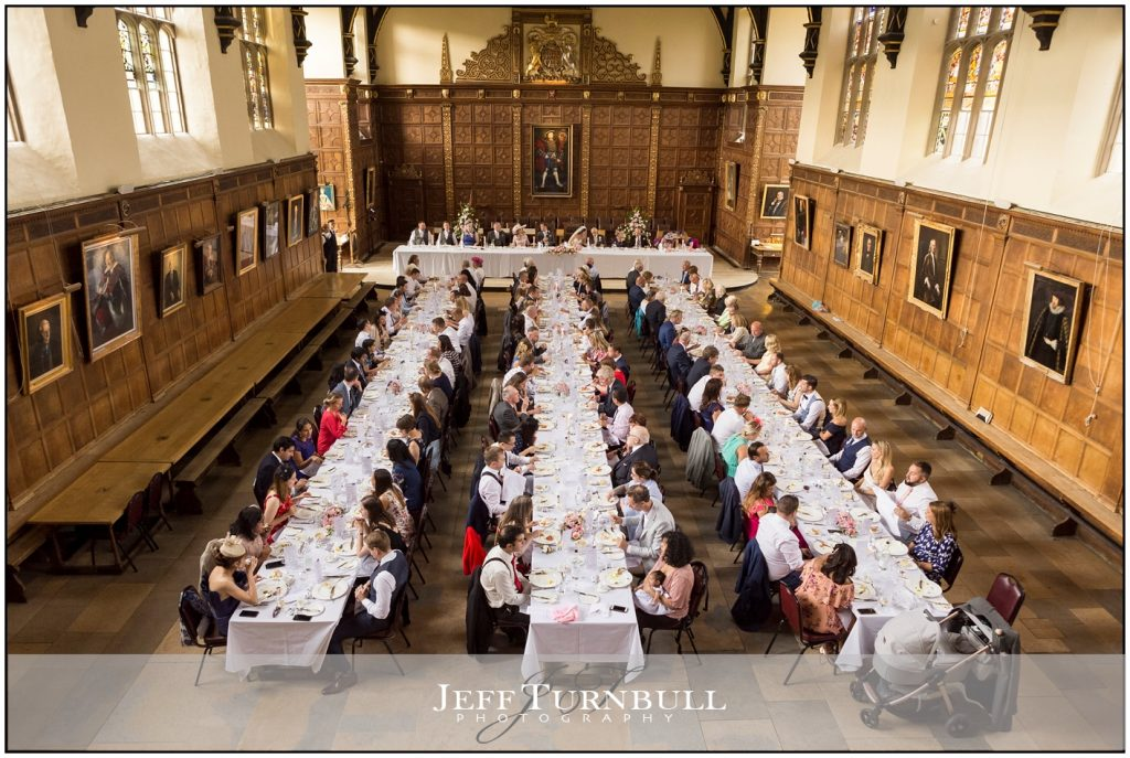 wedding breakfast Trinity College