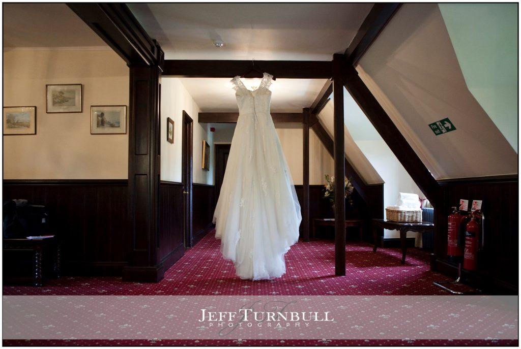 Wedding Dress Hanging Up Woodhall Manor