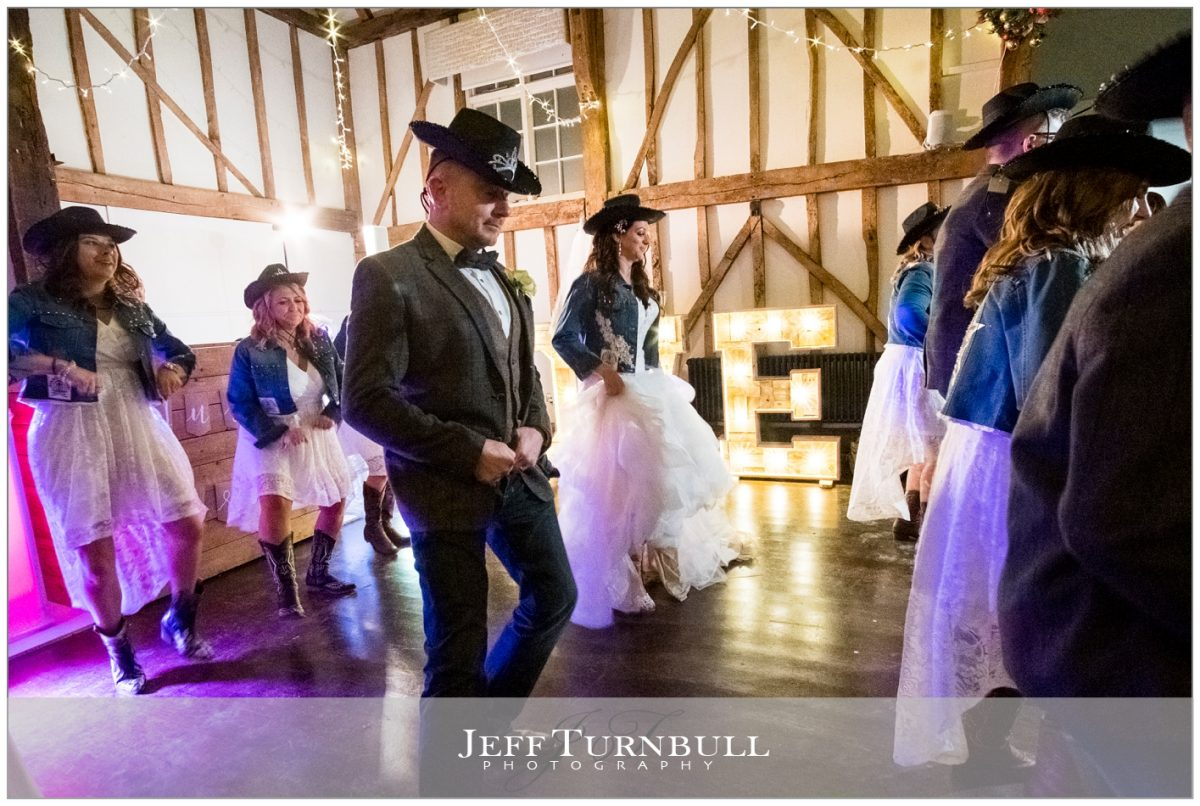 Bride and Groom Line Dancing