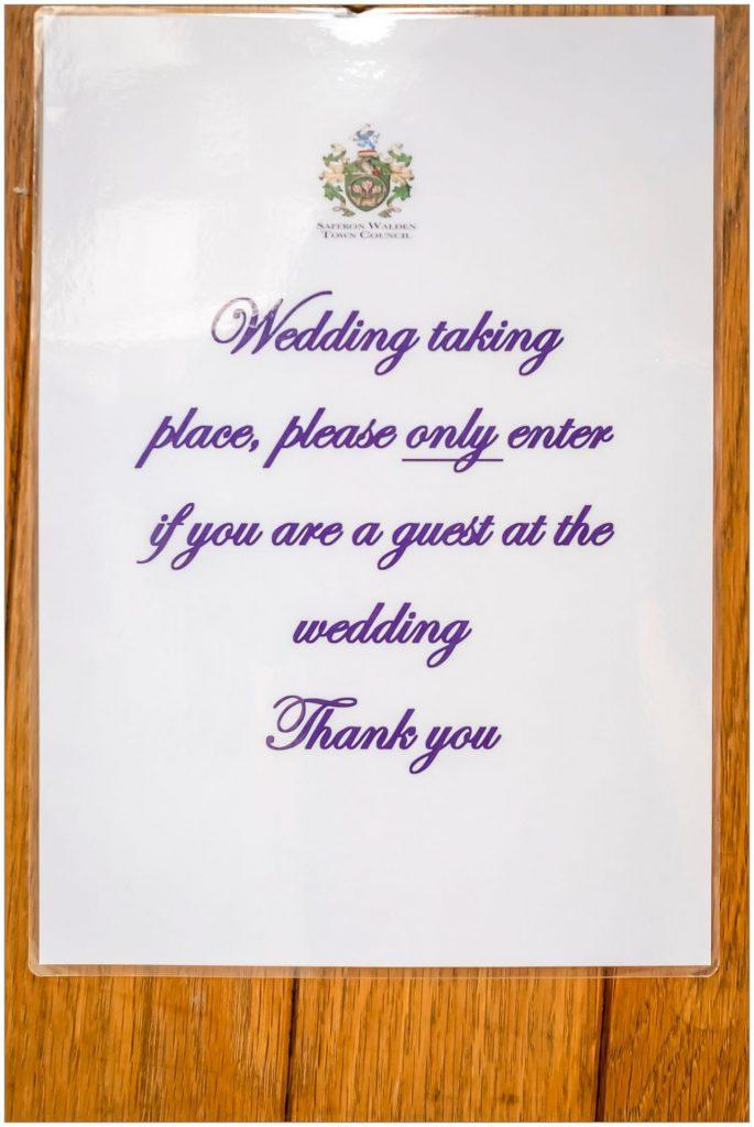 Saffron Walden and Thaxted Wedding Photographer