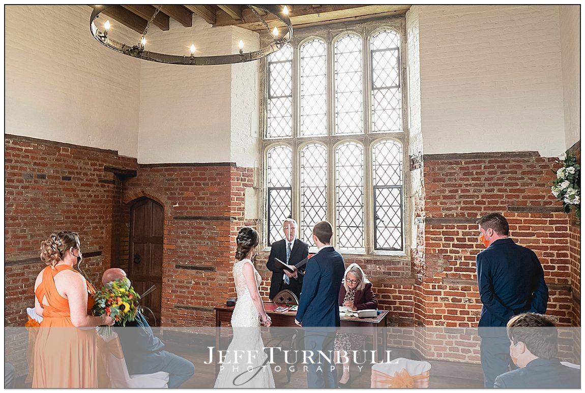 Wedding Ceremony Leez Priory Tower