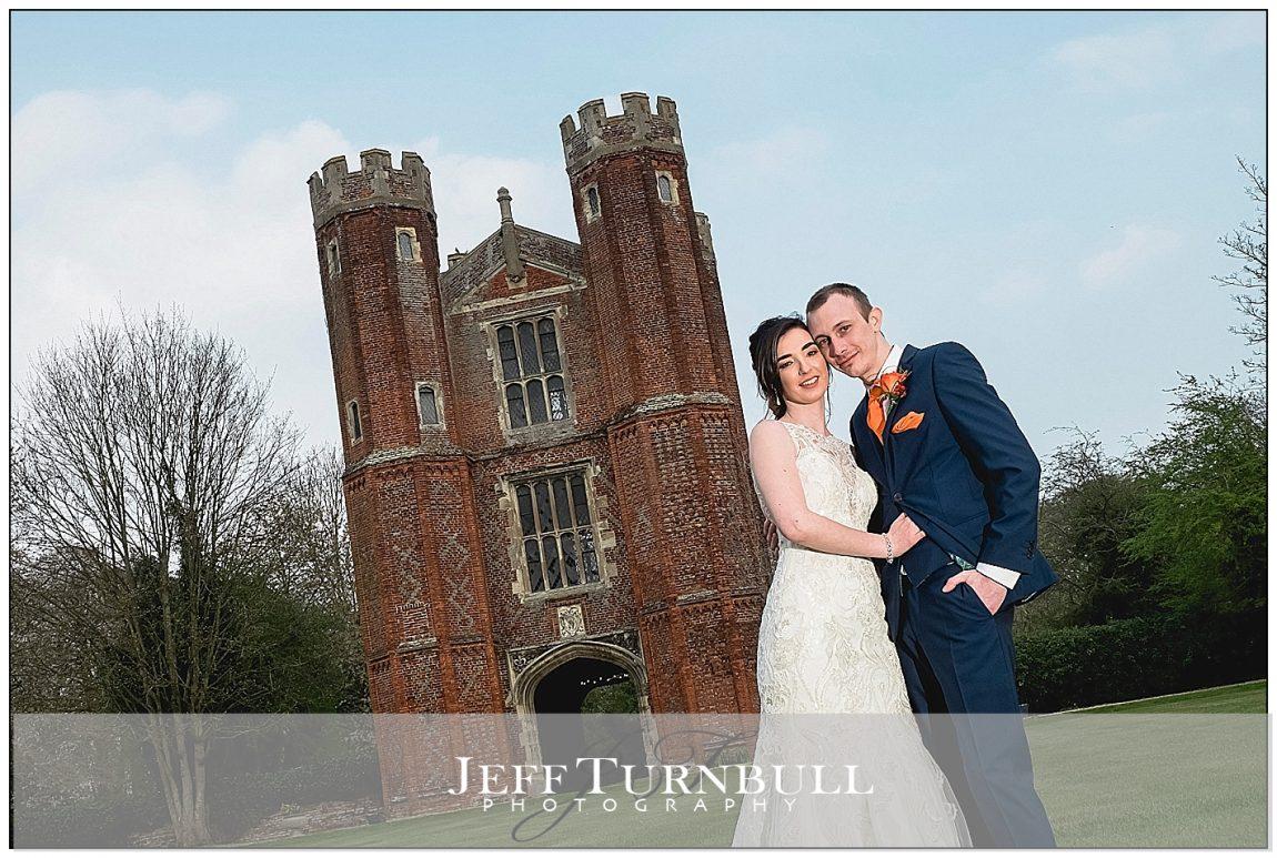 Bride and Groom by Leez Priory Tower