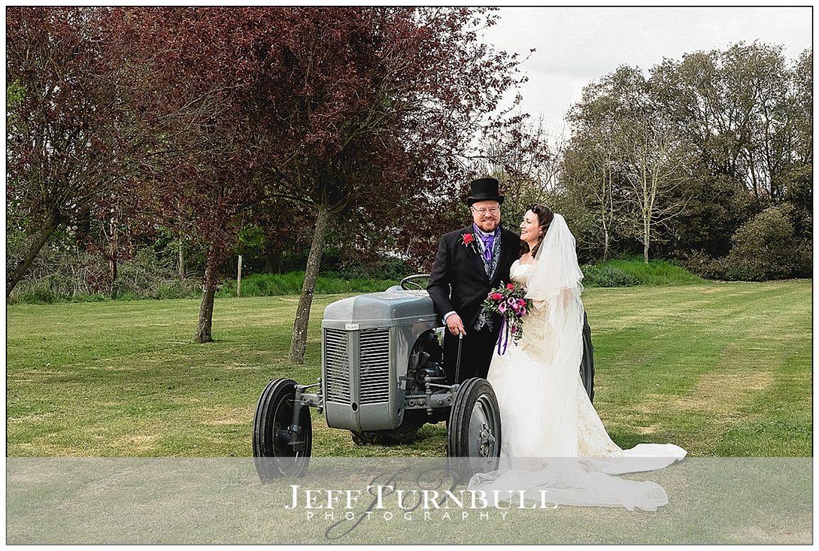 Bride and Groom Tractor Photo Ideas