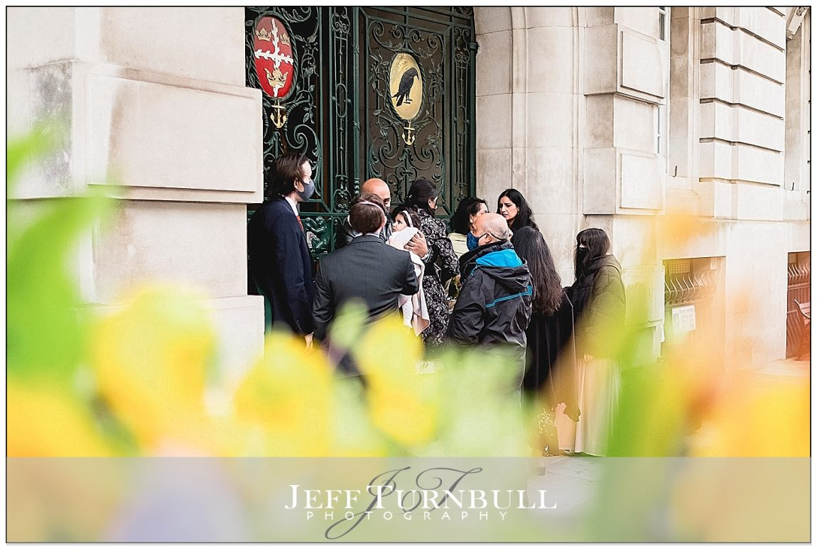 Wedding Guests Outside Colchester Town Hall