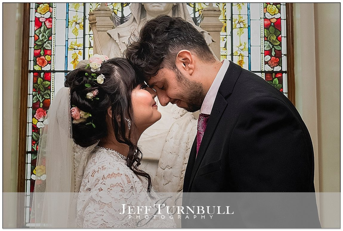 Bride and Groom indide Colchester Town Hall