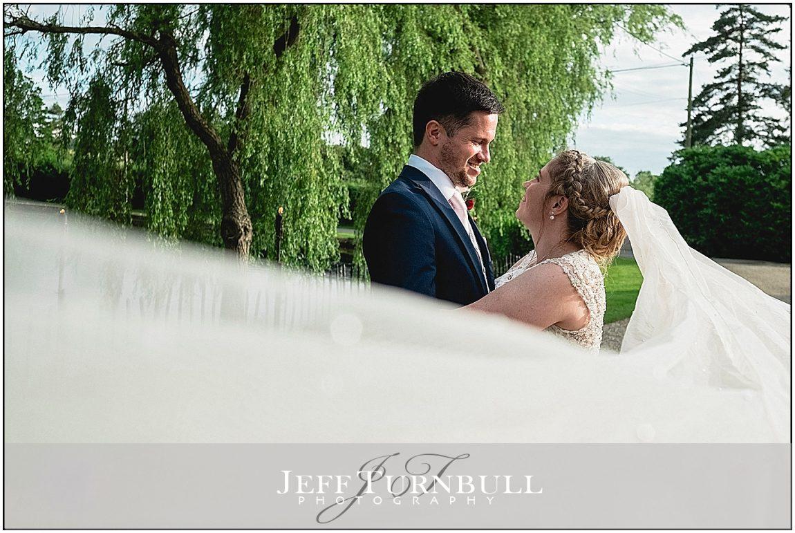 ong Veil Shot at a Wedding