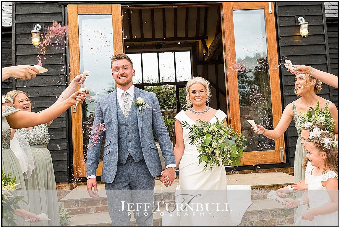 Confetti Photo at Villiers Barn
