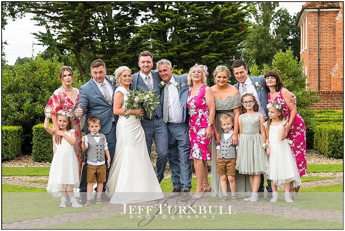 Colourful Family Wedding Photo