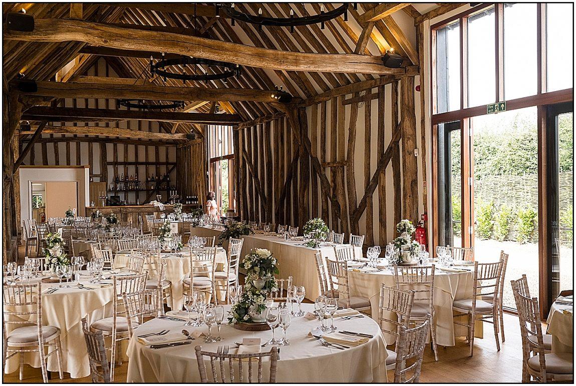Inside the Grand Barn at Villiers Barn