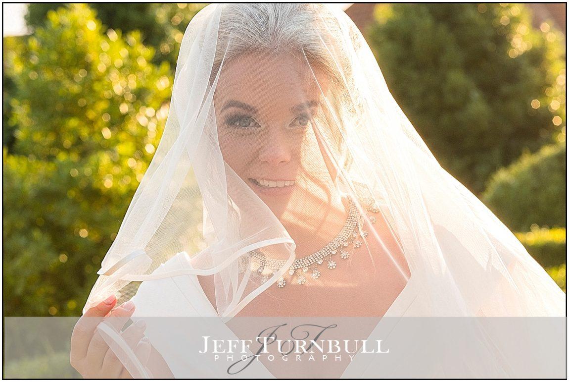 Bride Looking Through her Veil