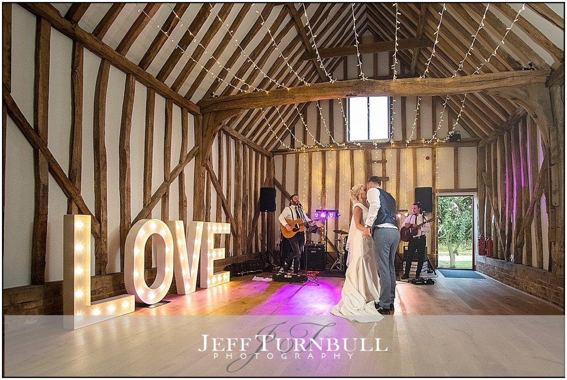 Bride and Groom First Dance Villiers Barn