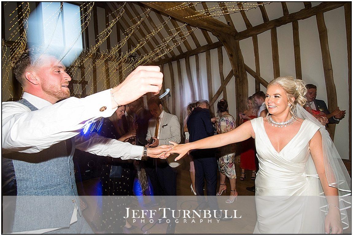 Evening Reception Dancing at Villiers Barn