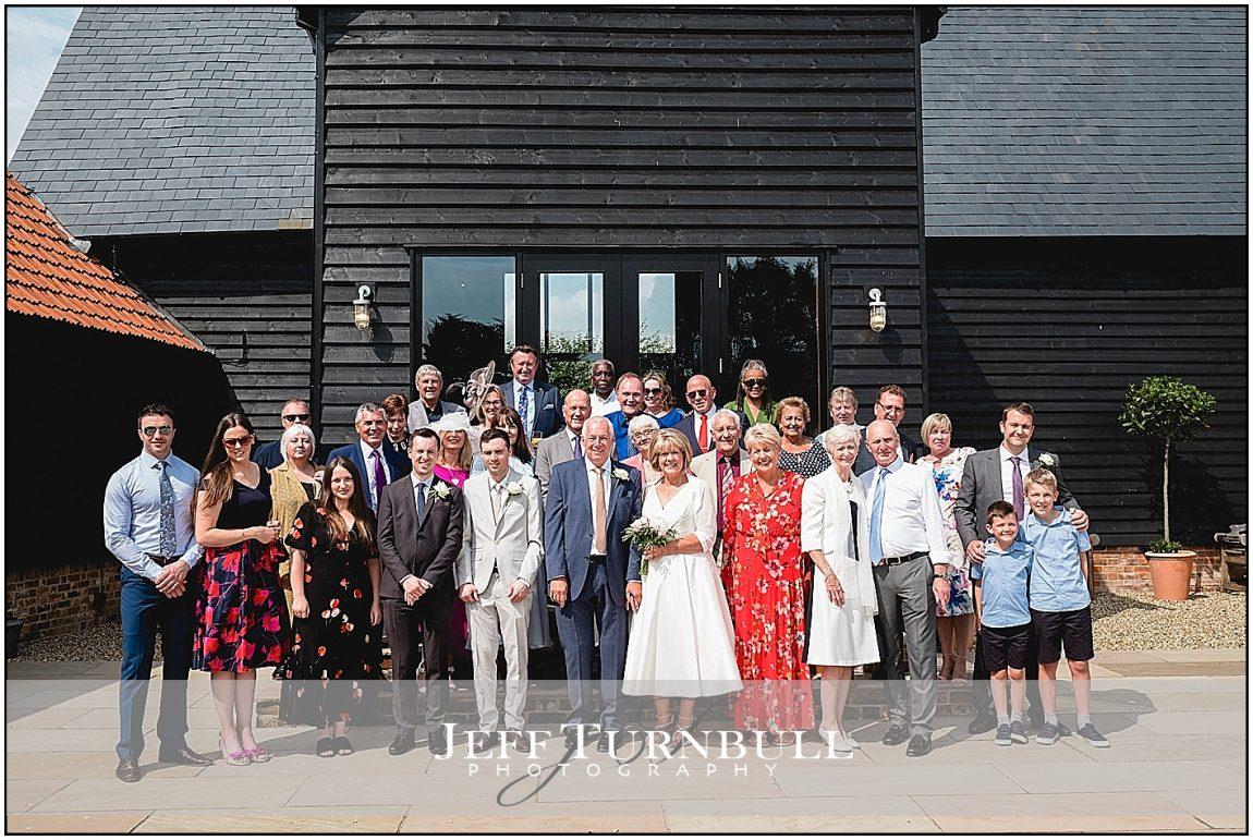 wedding Group Photo Villiers Barn