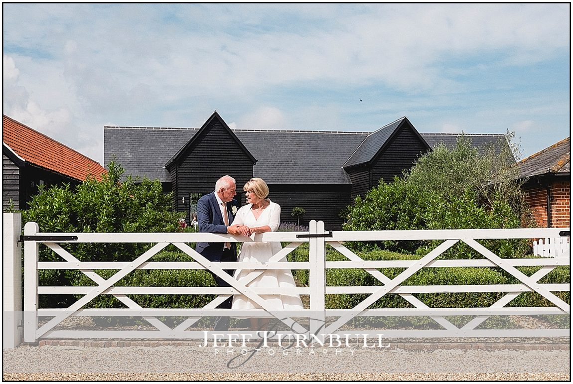 Bride and Groom at Villiers Barn