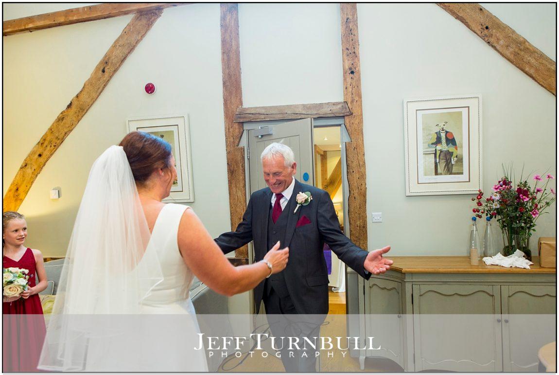 Bride aith her dad