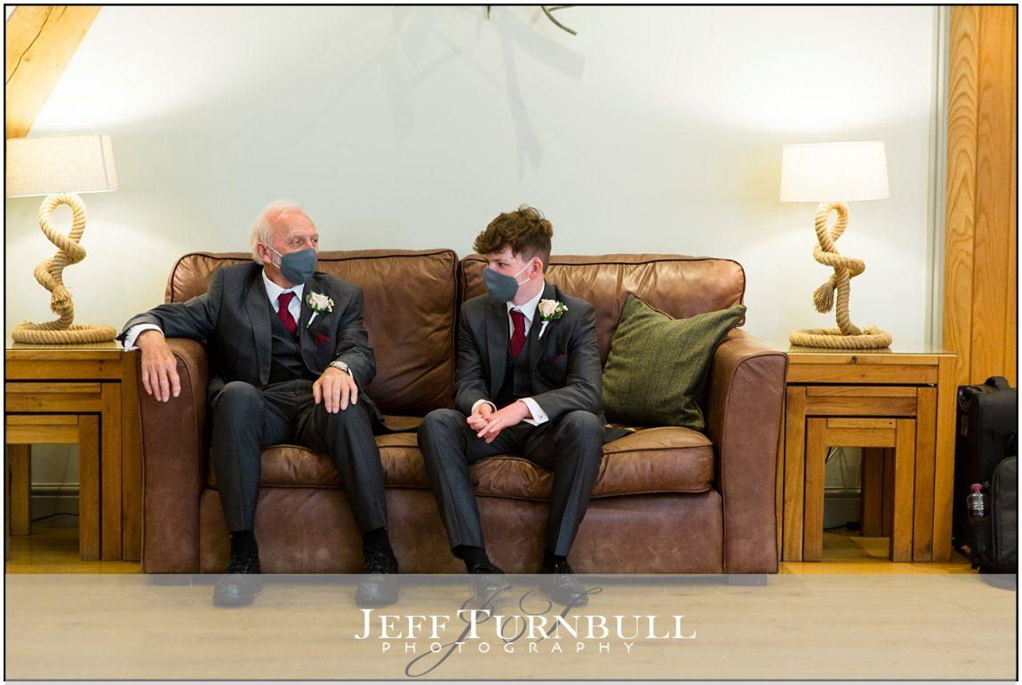 Groomsmen waiting for the groom