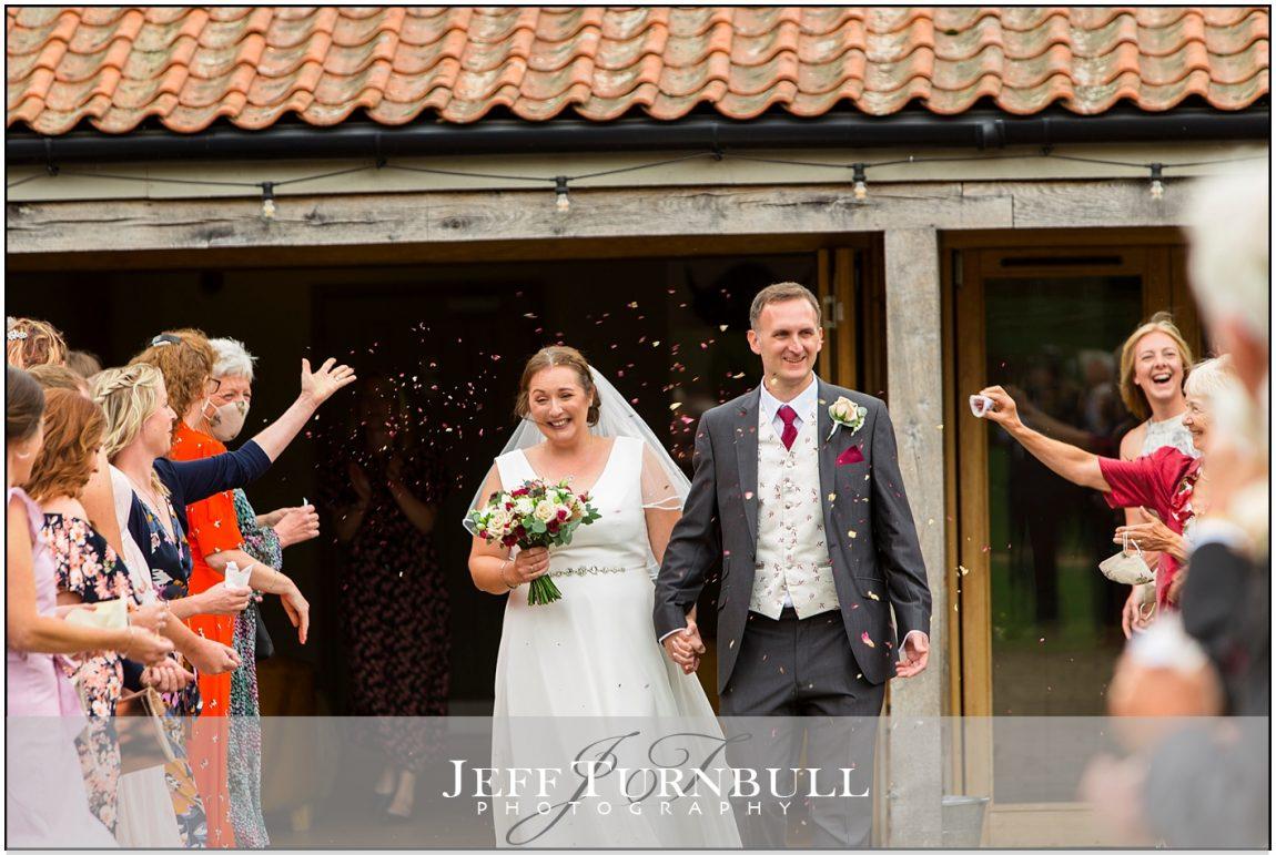Bride and Grrom at Eastin Grange