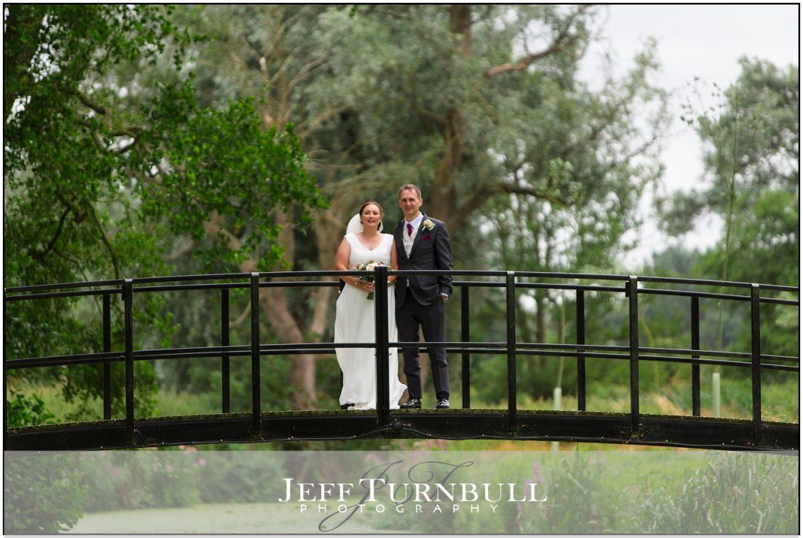 The bridge at Easton Grange Wedding Venue
