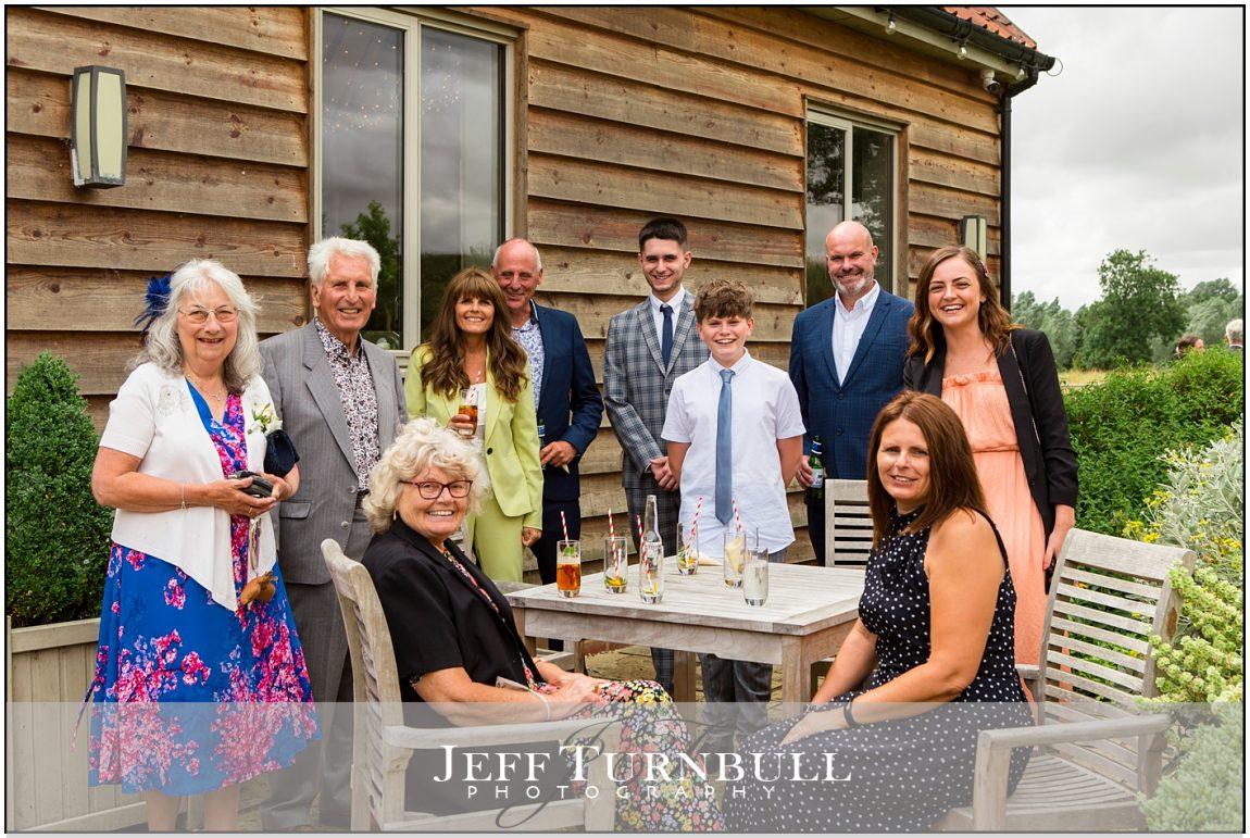 Wedding Guests Drinkig at Easton Grange