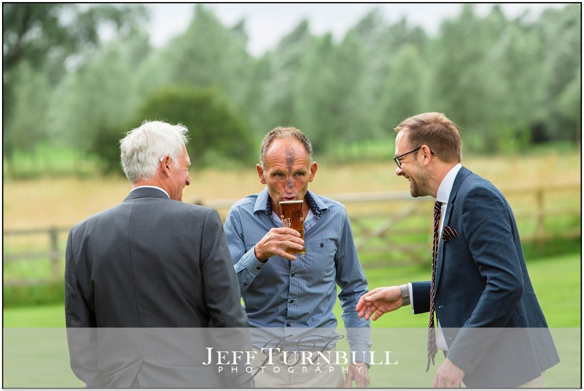 Guests Drinking at wedding reception