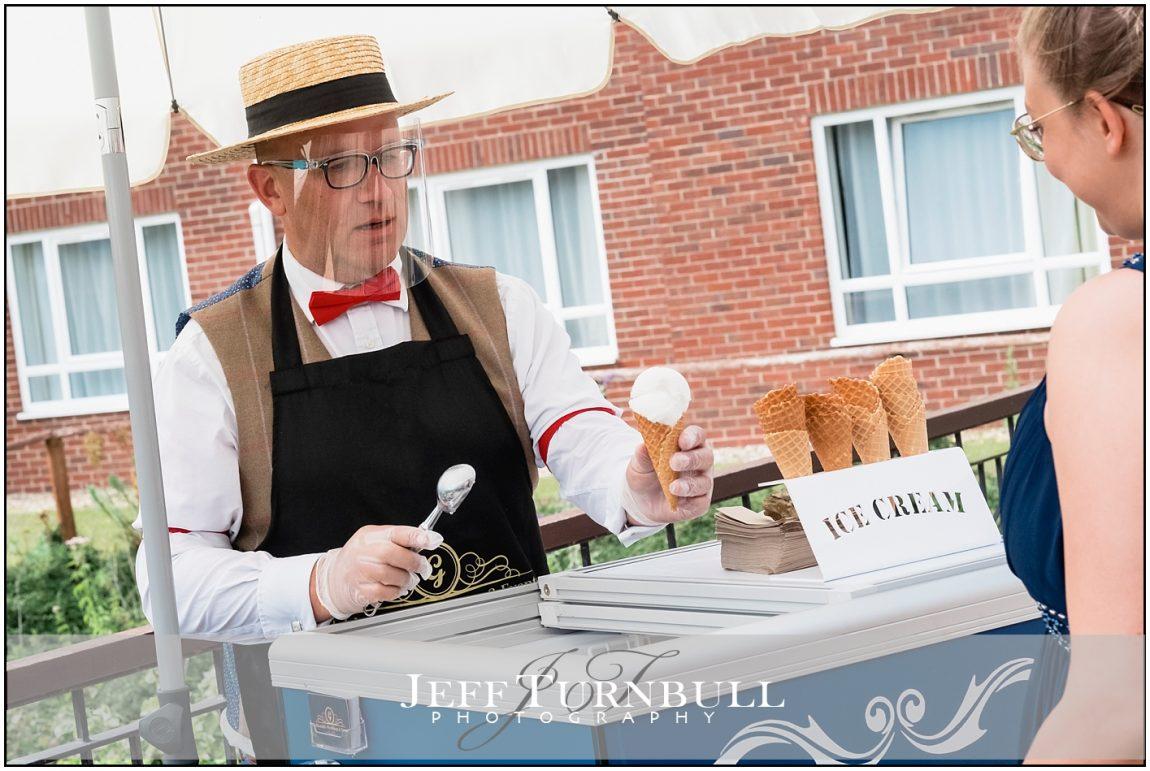 Ice Cream at a Wedding