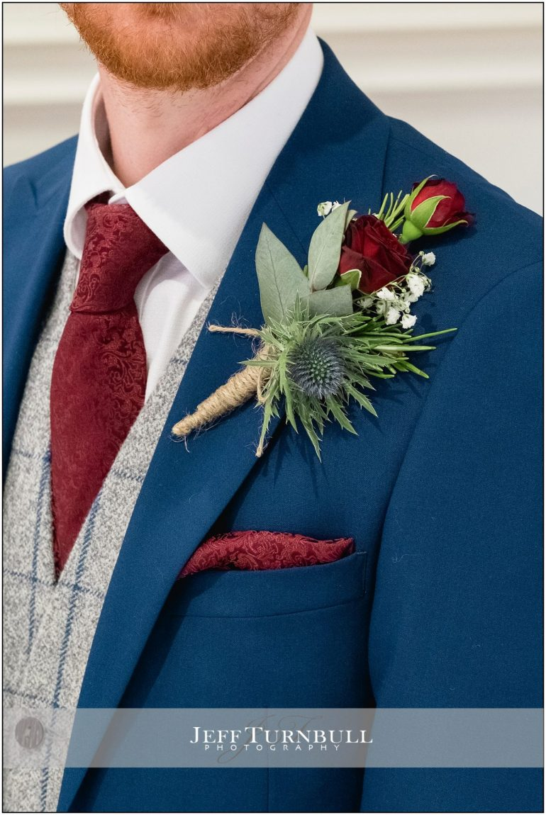 Close up of the Groom